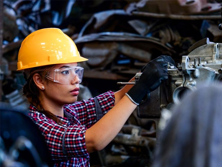 female manufacturing worker
