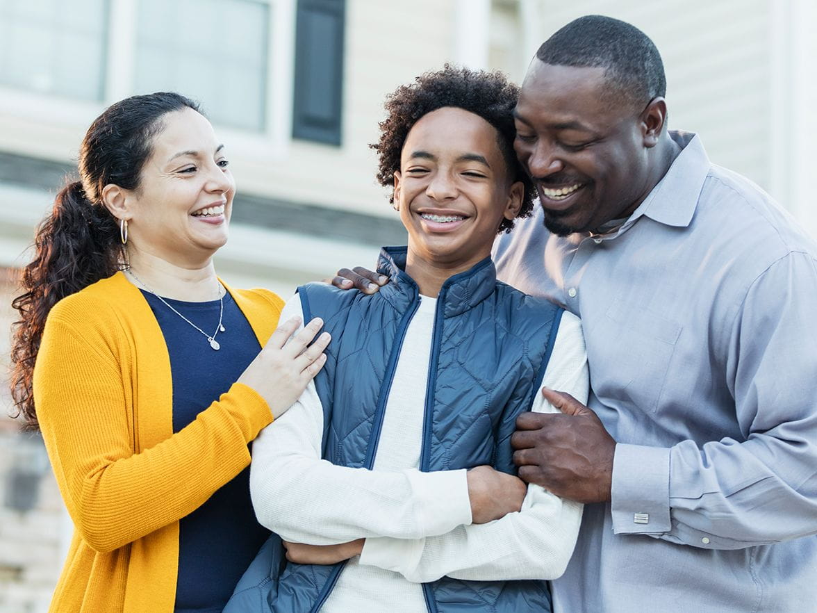 minority parents proud of their son
