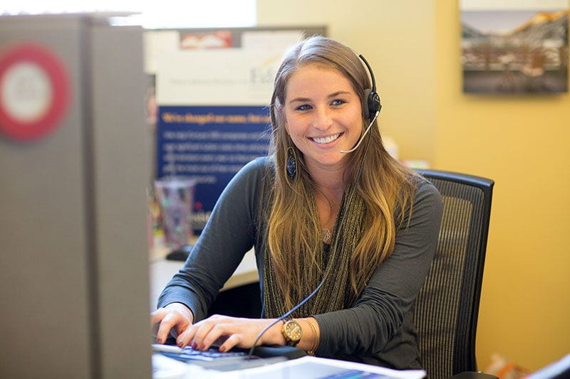 Bright Horizons call center employee with an ICM certification