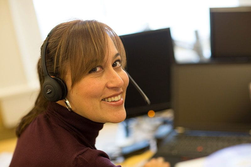 Employee retrained for call center customer service