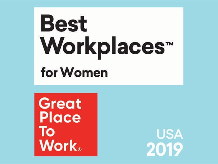 Great Place to Work's Best Workplaces for Women 2019 logo