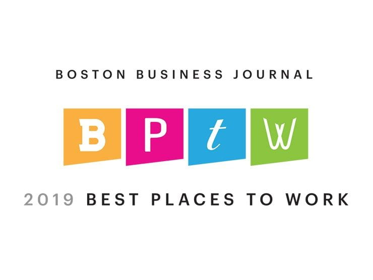 Boston Business Journal 2019 Best Places to Work logo