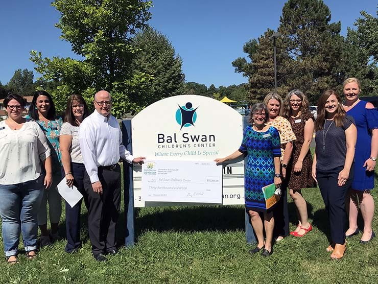 Bright Horizons Foundation for Children presents a Greenman Gift grant to Bal Swan Children's Center