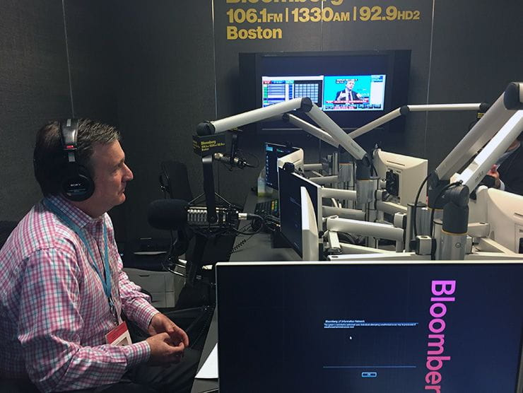 Bright Horizons CEO Stephen Kramer being interviewed on air by Bloomberg Baystate Business