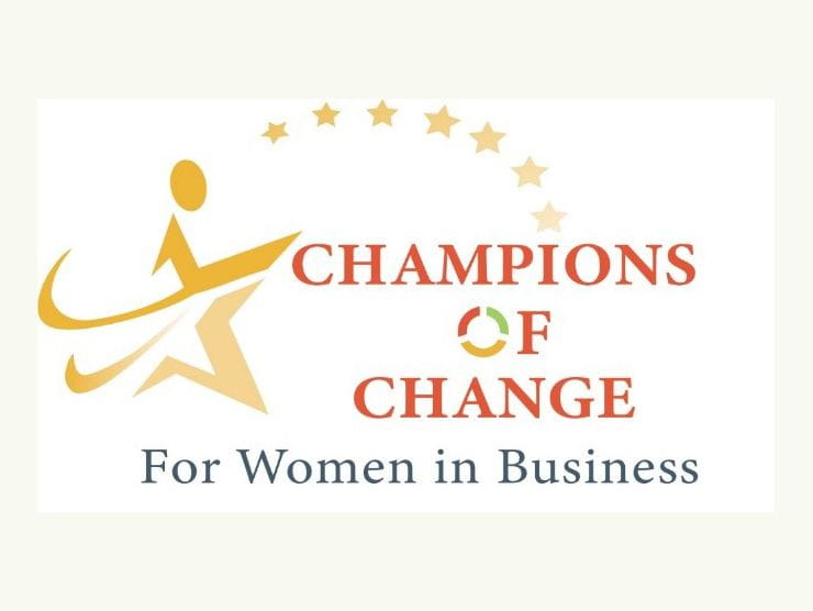 Colorado Women's Chamber of Commerce Champions of Change for Women in Business 2019 Logo