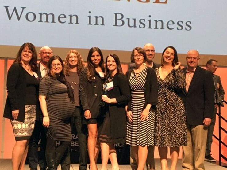 On November 7, 2019, Bright Horizons accepted the Colorado Women's Chamber of Commerce Champions of Change Award in Social Impact for our contributions supporting women in business.