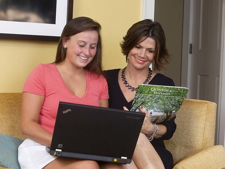 Mother and daughter applying for college
