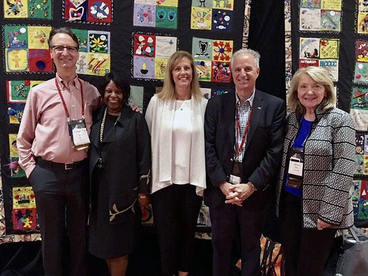 Rachel Roberston and colleagues at 2019 World Forum on Early Care and Education