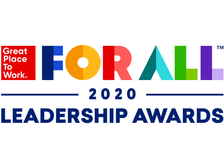 2020 GPTW Leadership Award logo w/ solid white background
