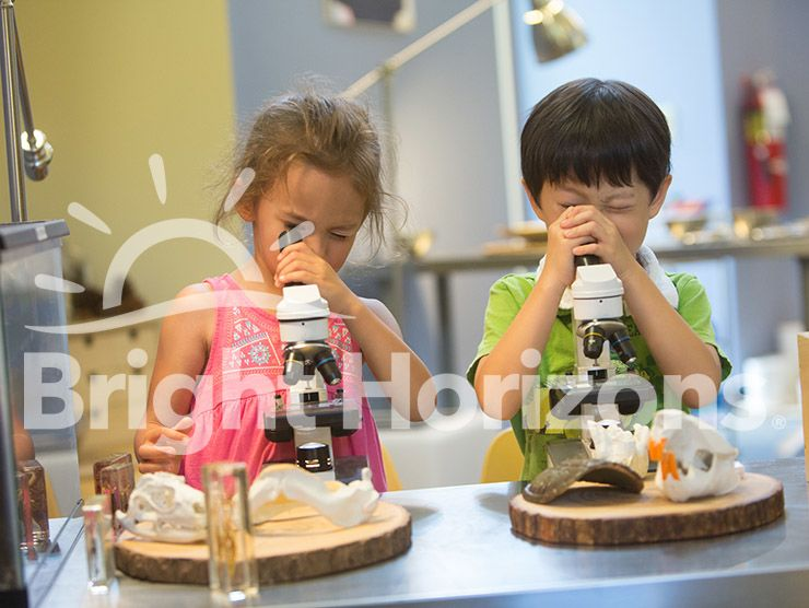 K Prep students using microscopes