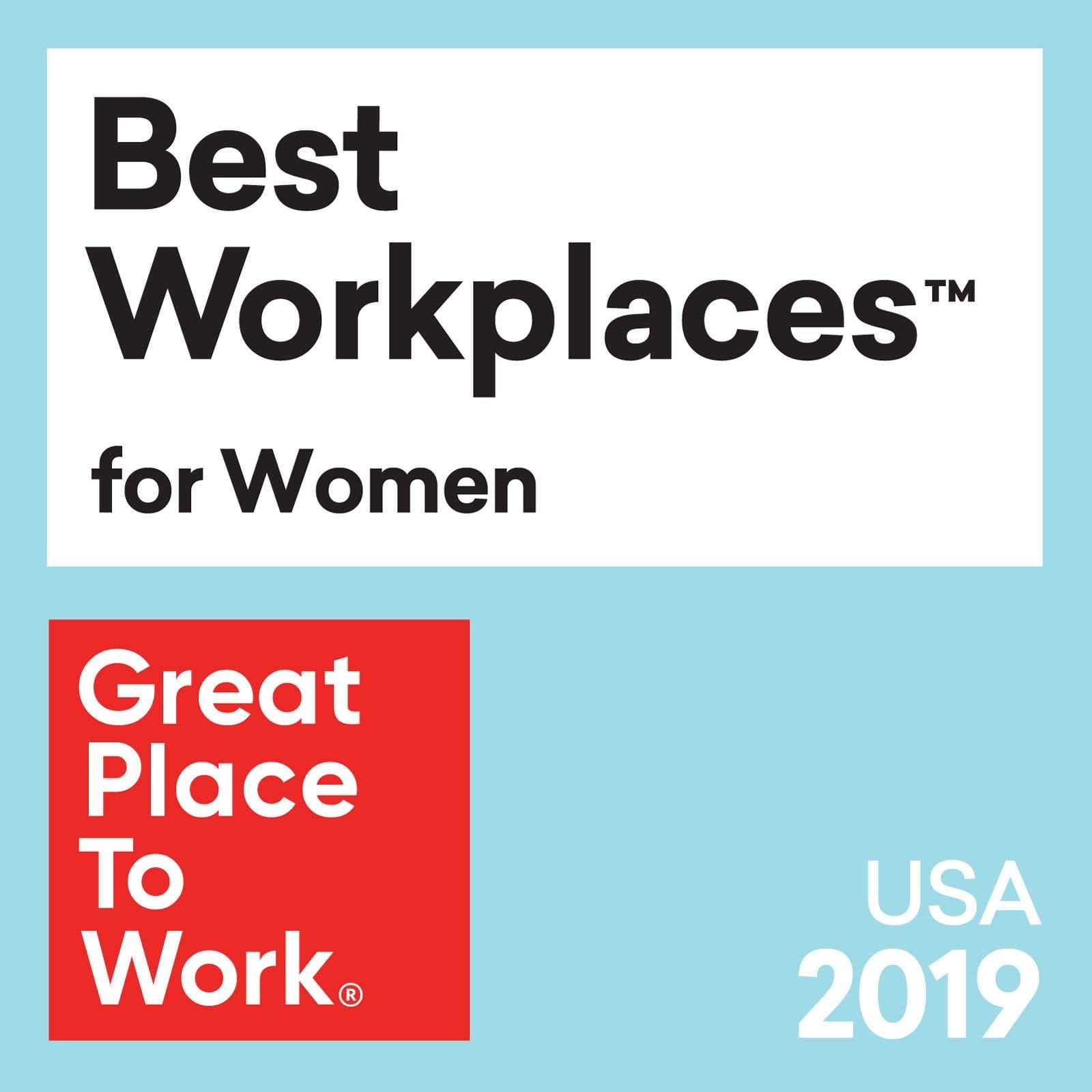Best workplaces for women 2019 logo