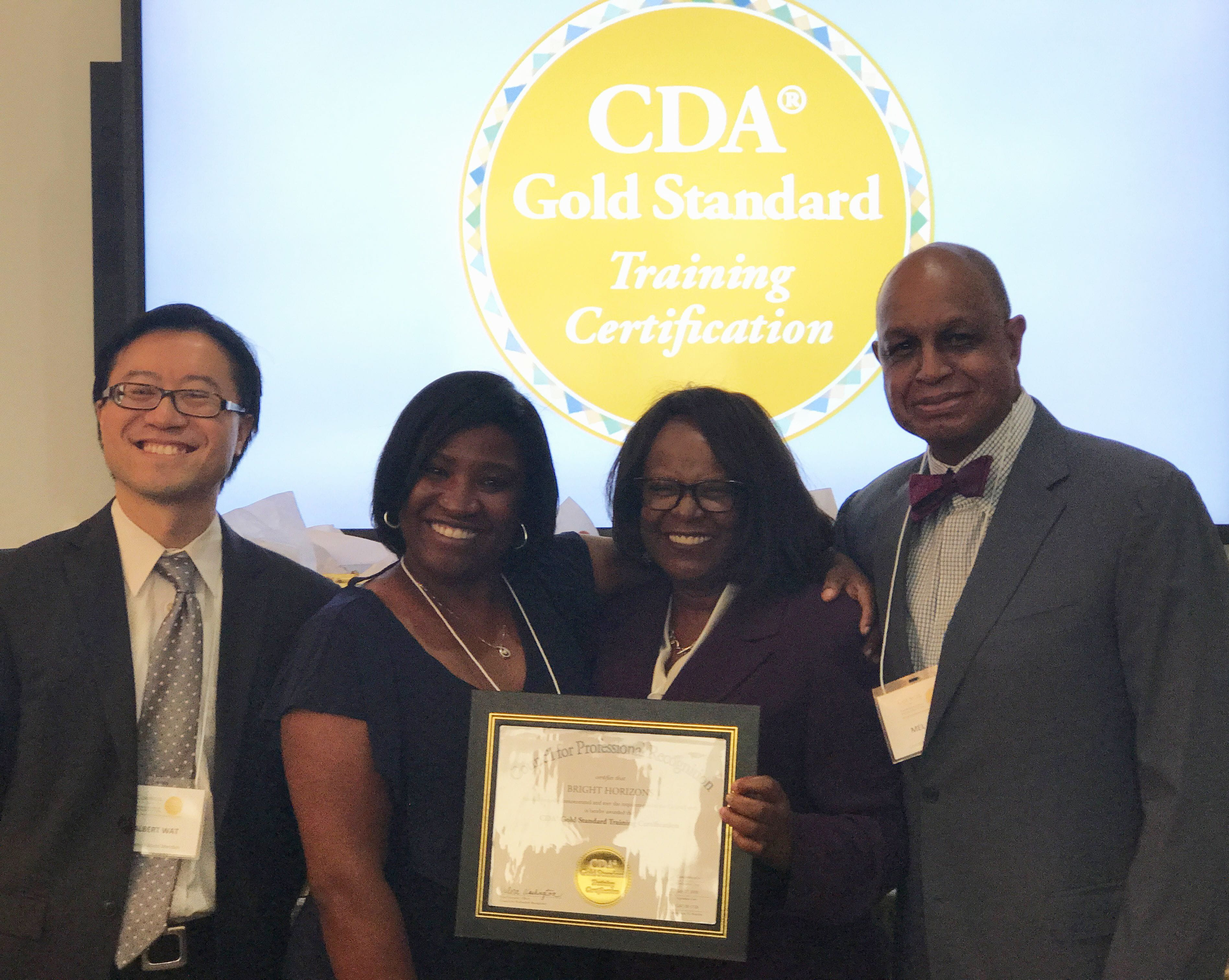 Bright Horizons Awarded Cda Gold Standard Training Certification