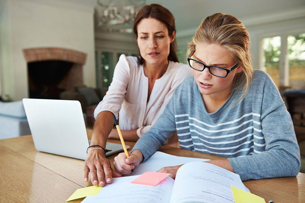 College applications can bring stress to parents and teens.