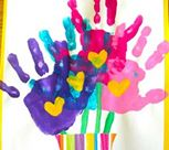 Crafts for Kids | Handprint Flower Vase