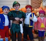 Themed Halloween Costumes for a Group of Kids